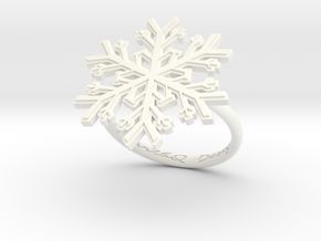 Snowflake Ring 1 d=17.5mm h21d175 in White Processed Versatile Plastic