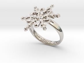 Snowflake Ring 2 d=18.5mm h35d185 in Platinum