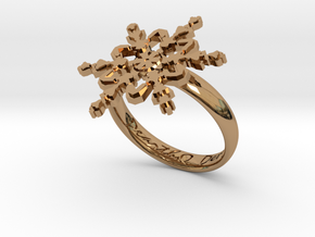 Snowflake Ring 2 d=18.5mm h35d185 in Polished Brass
