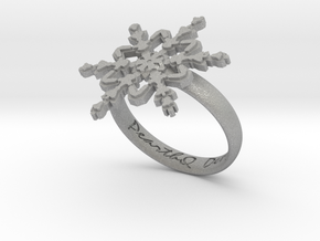 Snowflake Ring 2 d=18.5mm h35d185 in Aluminum