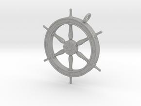 Ship's Wheel Pendant in Aluminum
