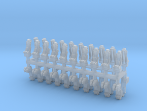025C Russian and American Seats 1/144 - 20 of each in Smooth Fine Detail Plastic
