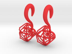 Plugs / gauges/ The Lotus Plug 0g (8 mm) in Red Processed Versatile Plastic