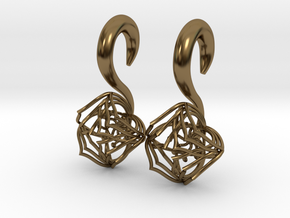 Plugs / gauges/ The Lotus Plug 0g (8 mm) in Polished Bronze