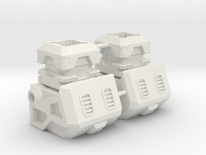 Aerial Team Combiner Knee Extension in White Natural Versatile Plastic