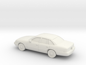 1/87 1995-97 Ford Crown Victoria in White Natural Versatile Plastic