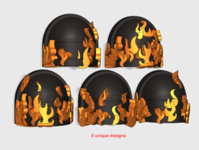 10x Legion of the Dammed - G:7a Shoulder Pad in Smooth Fine Detail Plastic