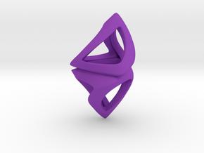 Trianon Twist, Pendant. Sharp Chic in Purple Processed Versatile Plastic