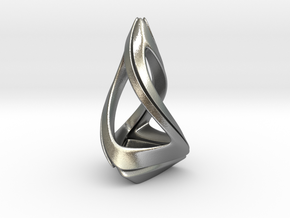 Trianon T.1, Pendant. Stylized Shape in Natural Silver