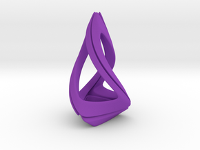 Trianon T.1, Pendant. Stylized Shape in Purple Processed Versatile Plastic