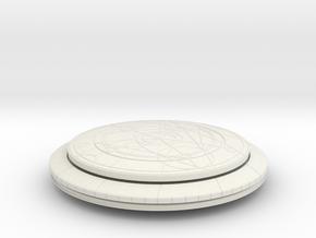 Confession Dial (Complete, No Orb) in White Natural Versatile Plastic