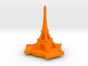 Eiffel Tower in Orange Processed Versatile Plastic