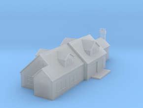 (1:450) Large House in Smooth Fine Detail Plastic