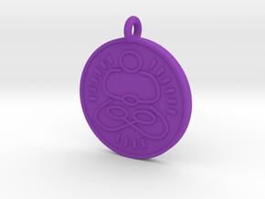 Meditation Pendant 1 in Purple Processed Versatile Plastic