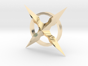 MALX X CROSS PENDENT in 14K Yellow Gold