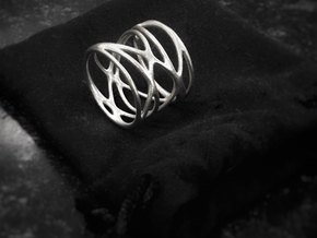 Ring - Mimas Seven in Natural Silver