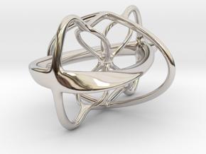 4-Twister Pendant in Platinum