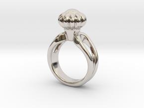 Ring Beautiful 16 - Italian Size 16 in Rhodium Plated Brass