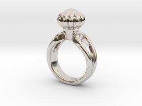 Ring Beautiful 17 - Italian Size 17 in Rhodium Plated Brass
