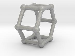 0422 Hexagonal Prism (a=1cm) #002 in Aluminum