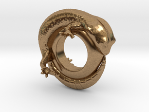 Gecko Ring     Size 5 in Natural Brass