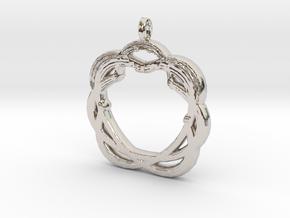 Original Shape Pendant in Rhodium Plated Brass