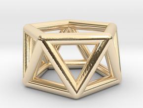 0436 Pentagonal Antiprism (a=1сm) #001 in 14K Yellow Gold