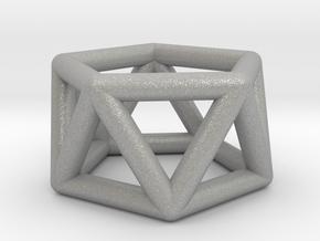 0436 Pentagonal Antiprism (a=1сm) #001 in Aluminum