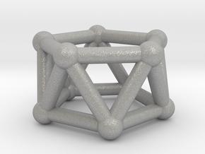 0437 Pentagonal Antiprism (a=1сm) #002 in Aluminum