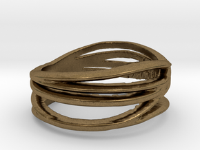 Simple Classy Ring Size 11 in Natural Bronze