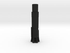 Kylo Ren Lightsaber Body Hilt Bottom Piece in Black Natural Versatile Plastic