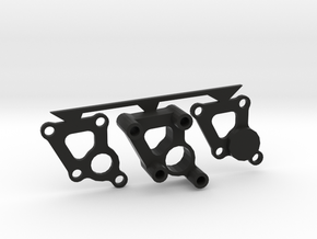 Kyosho RB6 Three Gear Conversion in Black Strong & Flexible