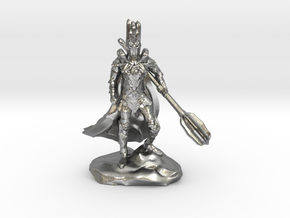 The Dark Lord with His Deadly Mace in Natural Silver
