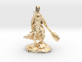 The Dark Lord with His Deadly Mace in 14k Gold Plated Brass