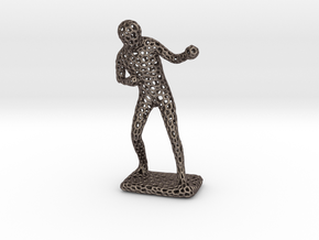Irish Boxer 1910 - 2016  (voronoi) in Polished Bronzed Silver Steel