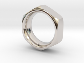 The Reverse Engineer (18mm) in Rhodium Plated Brass