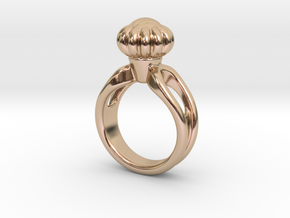 Ring Beautiful 23 - Italian Size 23 in 14k Rose Gold Plated Brass