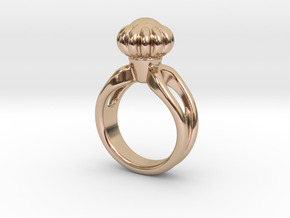 Ring Beautiful 29 - Italian Size 29 in 14k Rose Gold Plated Brass