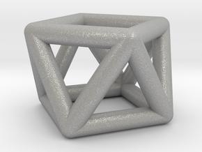 0442 Square Antiprism (a=1cm) #001 in Aluminum