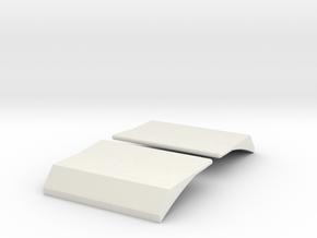 CR E8 Dynamic Brake Housings 4021 in White Natural Versatile Plastic