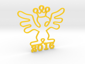 2016 Kinetic Bribe (Large) in Yellow Strong & Flexible Polished