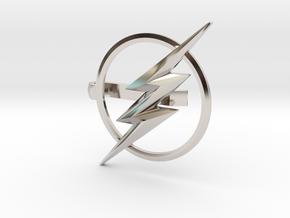 Flash tie clip in Rhodium Plated Brass