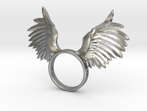 Nipple shield owl wings in Natural Silver