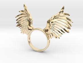 Nipple shield owl wings in 14k Gold Plated Brass