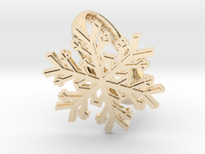 Snowflake Ring 1 d=19.5mm h35d195 in 14k Gold Plated Brass