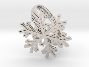 Snowflake Ring 1 d=19.5mm h35d195 in Rhodium Plated Brass