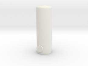 HO Vertical Tank H57mm in White Natural Versatile Plastic