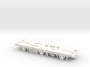 00 LMS Sausage/Milk Van Chassis in White Strong & Flexible Polished