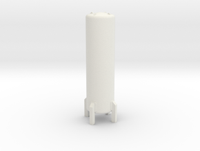 HO Cryogenic Tank H70mm in White Natural Versatile Plastic