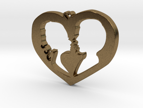 Two in Love Pendant - Amour Collection in Natural Bronze
